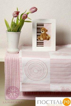 SET 'LUX 2287' - набор детский из 2 пледов, р-р: 75х100см(2 шт.), цвет: розовый/белый