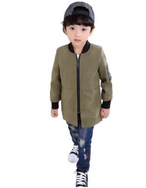 Пальто Пальто, оформленное длинными рукавами цвет: ЗЕЛЕНЫЙ, смесь хлопка/полиэстер. Размер=рост, см: 90,100,110,120,130,140