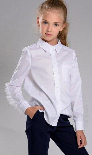 Блузка ***ТМ BORELLI Блузка   c оборкой  Белый