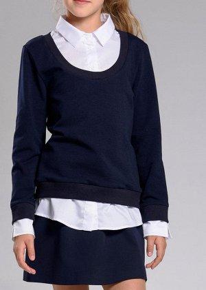 Свитшот-рубашка/круглая горловина