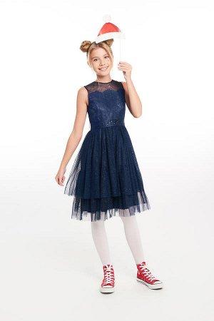Платье синее для девочки