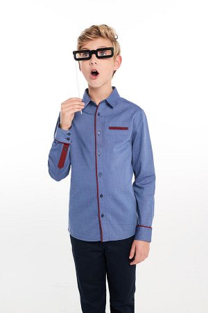 Рубашка для мальчика р 146-152  Хлопок. Качество.