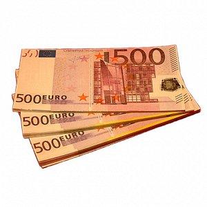 Пачка купюр 500 евро