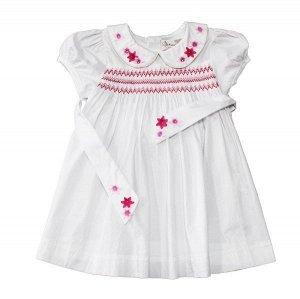 Платье 1110220 1 бел-роз 90-114/5