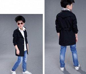 Куртка - ветровка с длинными рукавами для мальчиков цвет: ЧЕРНЫЙ