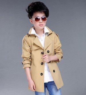 Куртка - ветровка с длинными рукавами для мальчиков цвет: ХАКИ