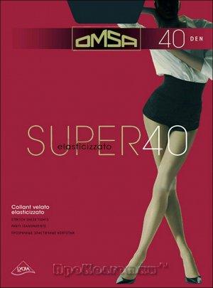 Колготки Полупрозрачные, прекрасно облегающие ногу колготки OMSA SUPER 40 – это выбор для любого образа в тёплое время года. Они приятны к телу, практически не ощущаются на коже. Колготки не сползают,