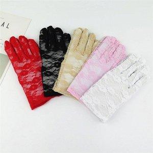 Ажурные перчатки женские.