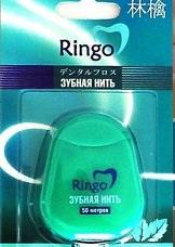 RINGO Зубная нить с ароматом мяты 50м.