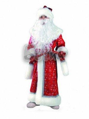 Дед Мороз плюш красный (дет.) р.32-34