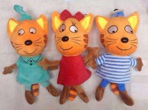 """Мягкая игрушка """"Три кота"""" маленькая"""