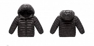 Демисезонная детская куртка, цвет черный