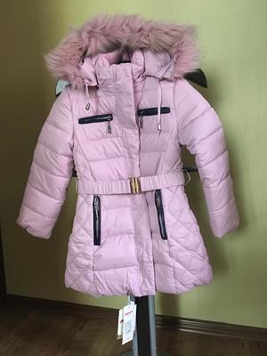 Парка зимняя для девочки, цвет светло-розовый