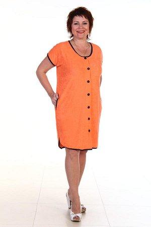 Халат теплый, оранжевый