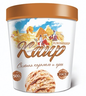 Ведерко Каир (крем-брюле с соленой карамелью и кедр. орехом) 500г (1/6)