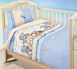 Постельное белье Бязь Детство в кроватку - Нежный сон