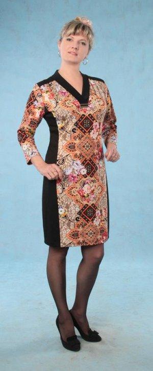 Платье из трикотажного полотна деним.