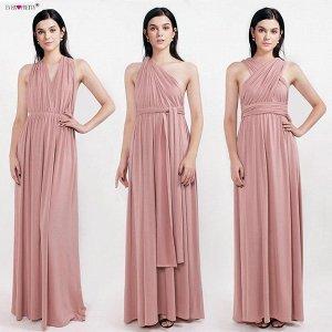 Шикарное вечернее розовое платье-трансформер