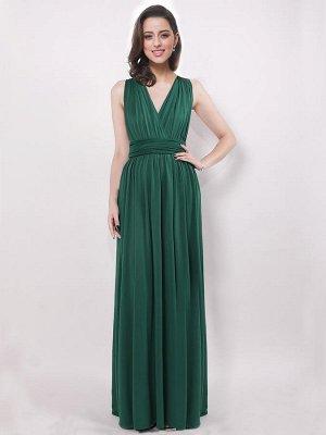 Шикарное вечернее зеленое платье-трансформер