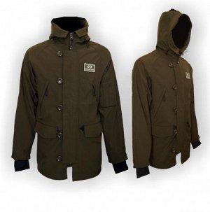 Куртка GUARDIAN SPIRIT универсальная, капюшон, мат.- Teflon, водоотталкивающий, цвет - тём.зелёный L