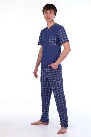 Пижама мужская, синий
