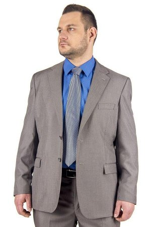Костюм Код товара: 24134 Артикул: 5047-М48 Посадка: классическая Модель: костюм Цвет: серый Фактура: узор Состав: шерсть-35%, вискоза-35%, полиэстер-30%