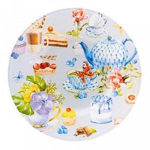 Тарелка десертная стекло 200мм