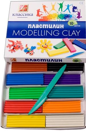 "Пластилин ""Классика"" (Детство) 10 цветов"