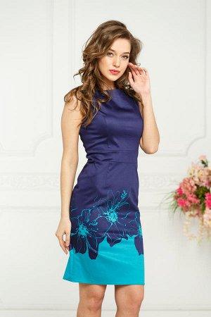 Платье Инесса №2.бирюзовый
