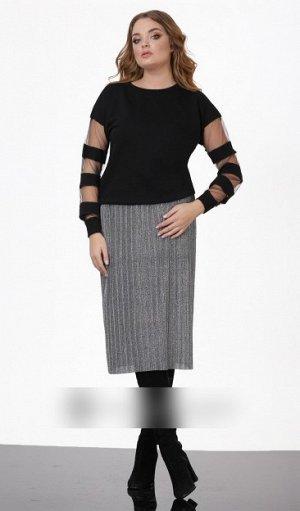 Юбка миди Полиэстер 100%Рост: 164-170 см. Эффектная плиссированная юбка длинны миди, сделает Ваш образ женственным и утончённым. Юбка на резинке и на подкладке. Длина изделия 76см.