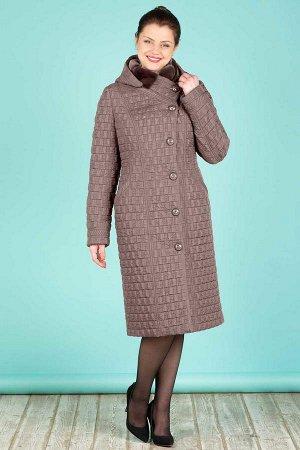 Пальто Пальто женское из плащевой стеганой ткани с водоотталкивающей пропиткой. Рост: 168 Силуэт: полуприлегающий Размерная сетка: соответствует размеру Утеплитель: шерстикрон 150 г./кв.м., синтепон 1