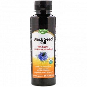 Nature&amp - #x27 - s Way, 100%-ное органическое масло семян черного тмина, 235&amp - nbsp - мл
