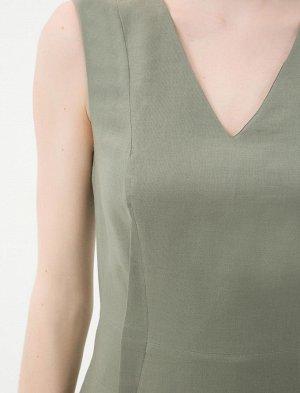 Платье %80 Rami, %20 Pamuk  Длина 88см, по груди полуобхват - 43см, по бедрам полуобхват 44см.