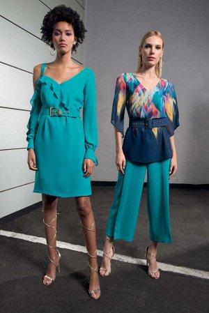 Платье италия, красивого бирюзового цвета