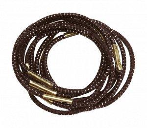 Резинки для волос DEWAL, с серебристой нитью, коричн