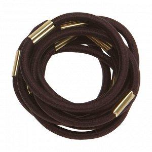 Резинки для волос DEWAL, коричневые.