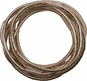 Резинки для волос DEWAL, блестящие, коричневые