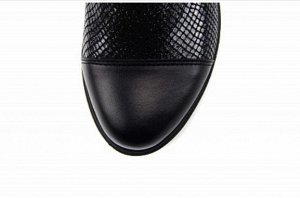 Ботинки кожа черный/черный энгерик демисезон