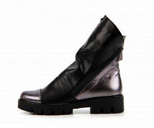 Ботинки натуральная кожа черный/никель