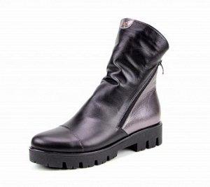 Ботинки натуральная кожа черный/никель2