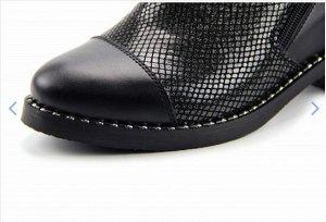 Ботинки кожа энгерик черный демисезон