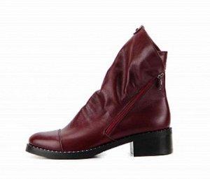 Ботинки натуральная кожа бордо