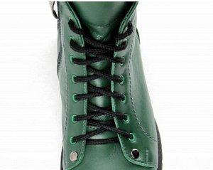 Ботинки кожа зеленый демисезон