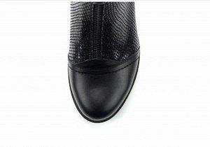 Ботинки кожа черный энгерик демисезон