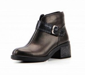 Ботинки натуральная кожа коричневый металлик