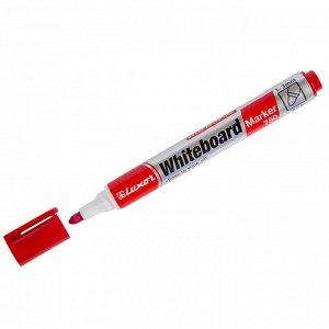 """Маркер для белых досок Luxor """"750"""" красный, пулевидный, 1-3мм"""