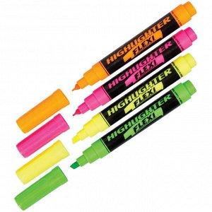 """Текстовыделитель Centropen """"Flexi 8542"""" желтый, 1-5мм, гибкий пишущий узел"""