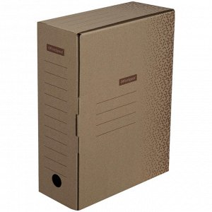 "Короб архивный с клапаном OfficeSpace ""Standard"" плотный, микрогофрокартон, 100мм, бурый, до 900л."