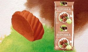 """А46 """"Деревенская коровка"""" пломбир шоколадный 18% 400гр"""