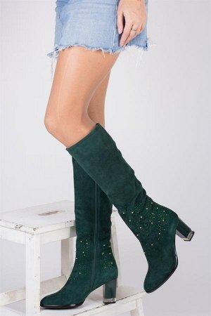 Продам сапоги красивого зеленого цвета. Дешевле СП!